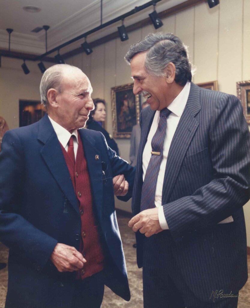 Emilio Cervantes con Fermín Santos